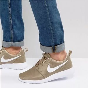 Women's Nike Roshe One Beige Running Sneakers
